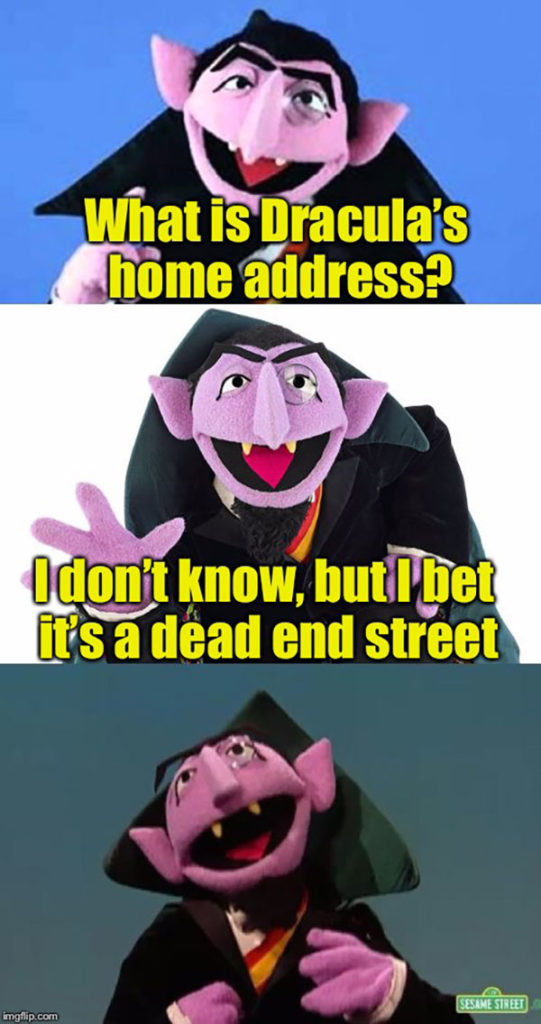 Vampire Puns - Dead End Street