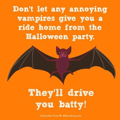 Vampire Puns - Drive You Batty