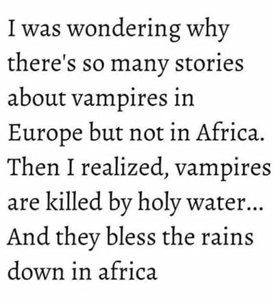 Vampire Puns - Toto Africa