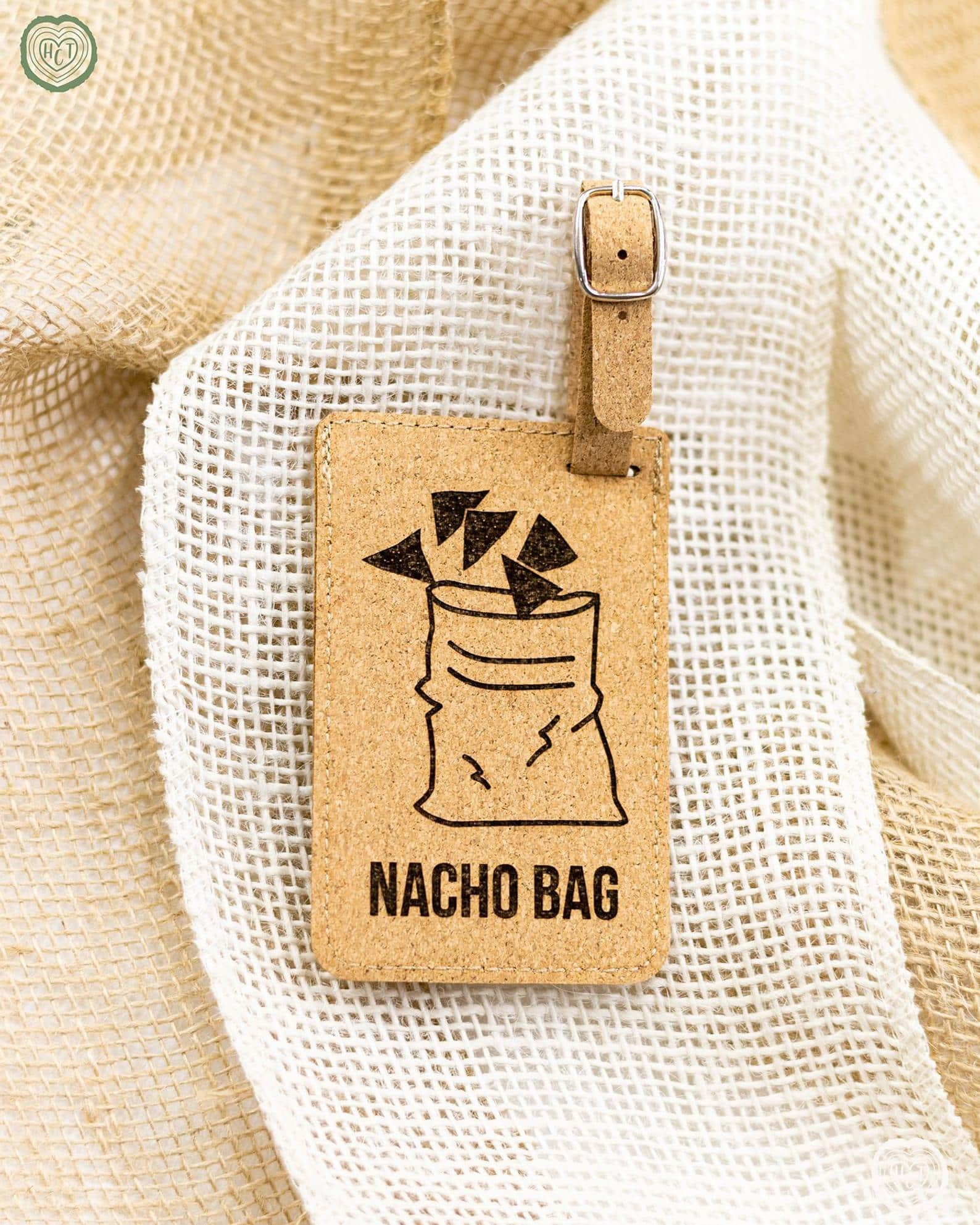 funny luggage tags - nacho bag