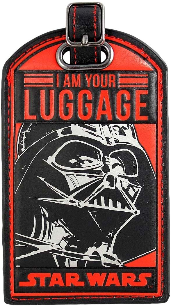 funny luggage tags - darth vader may luggage be with you
