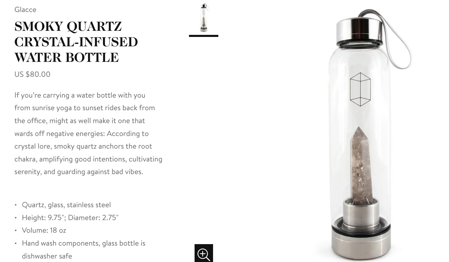 Goop Gift Guide Holiday 2019 - Crystal Water Bottle