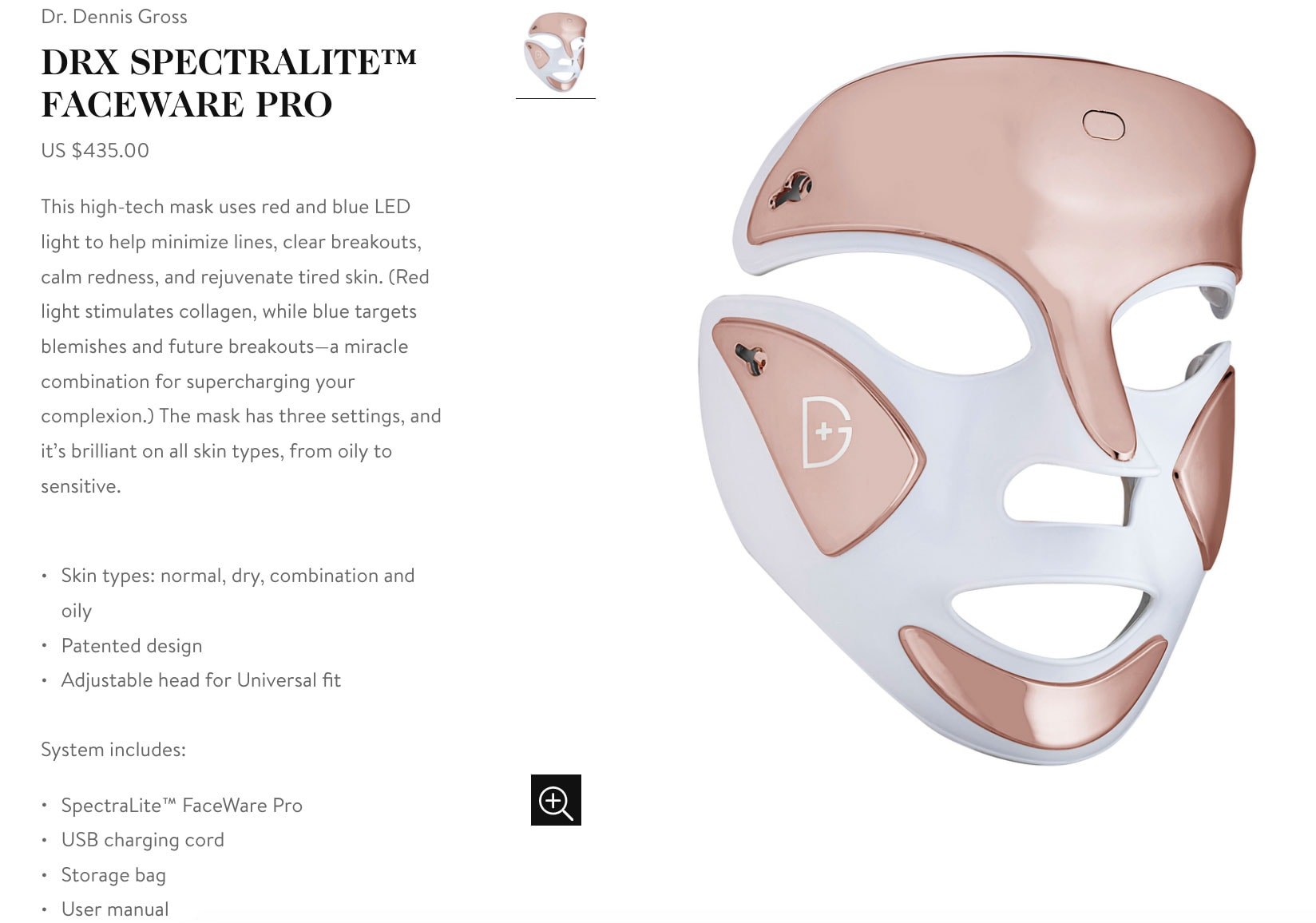 Goop Gift Guide - DRX Spectralite Faceware Pro