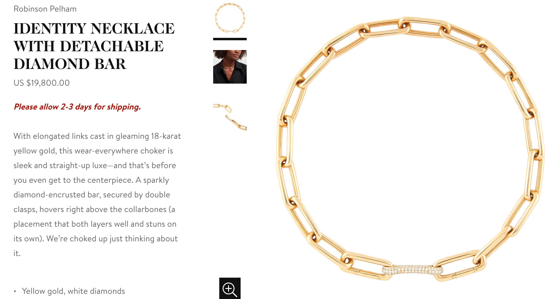 Goop Gift Guide Holiday 2019 - Diamond Identity Necklace