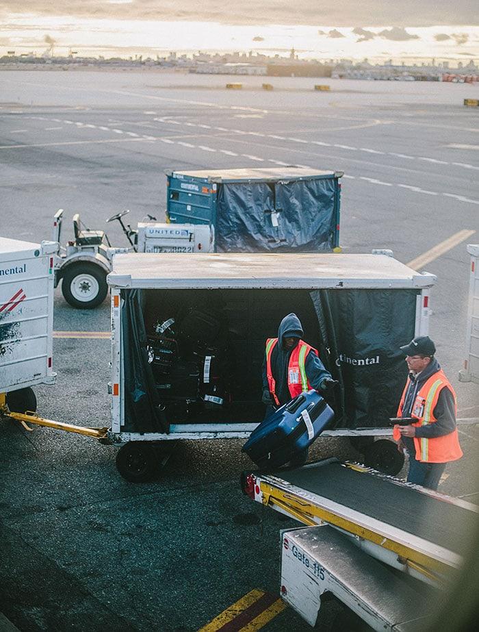 Lost Luggage - baggage handlers