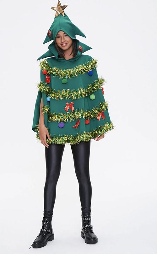 Tacky Christmas Party Ideas - Christmas Tree Poncho
