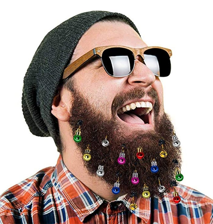 Tacky Christmas Party Ideas - Beard Ornaments