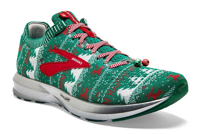 Tacky Christmas Party Ideas - Brooks Revel Merry Running Shoes