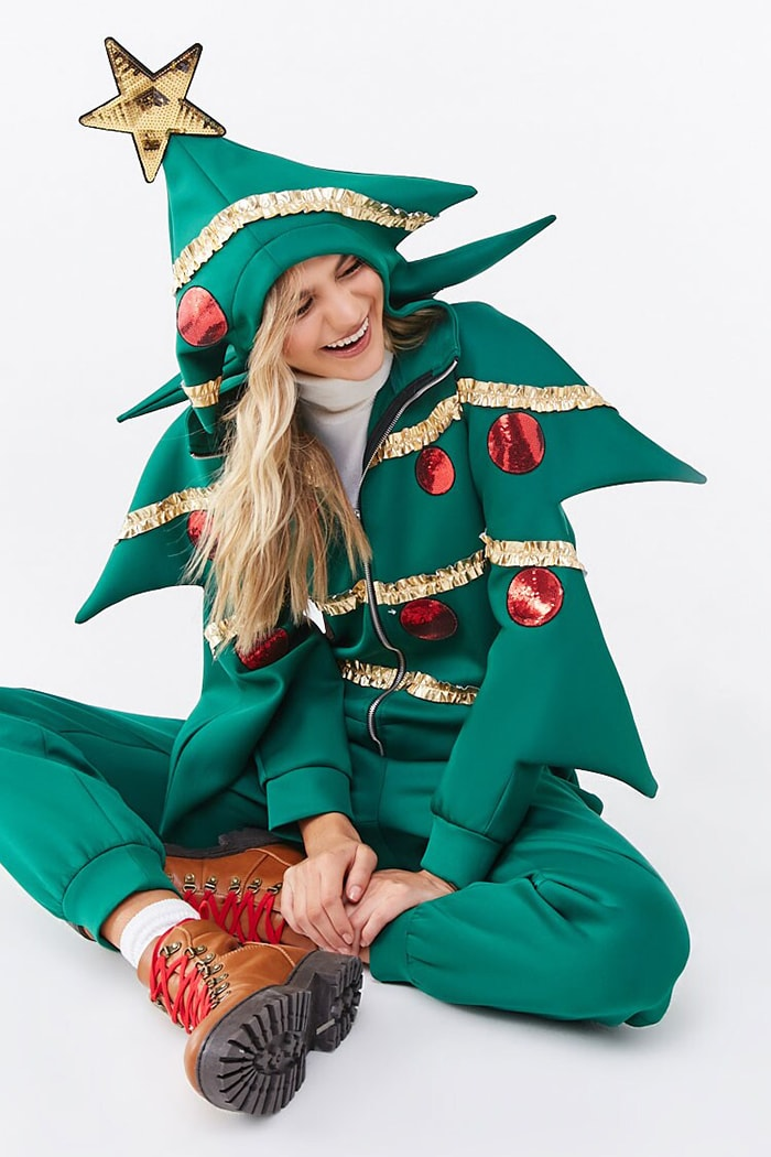 Tacky Christmas Party Ideas - Forever 21 Christmas Tree Jumper from Forever 21