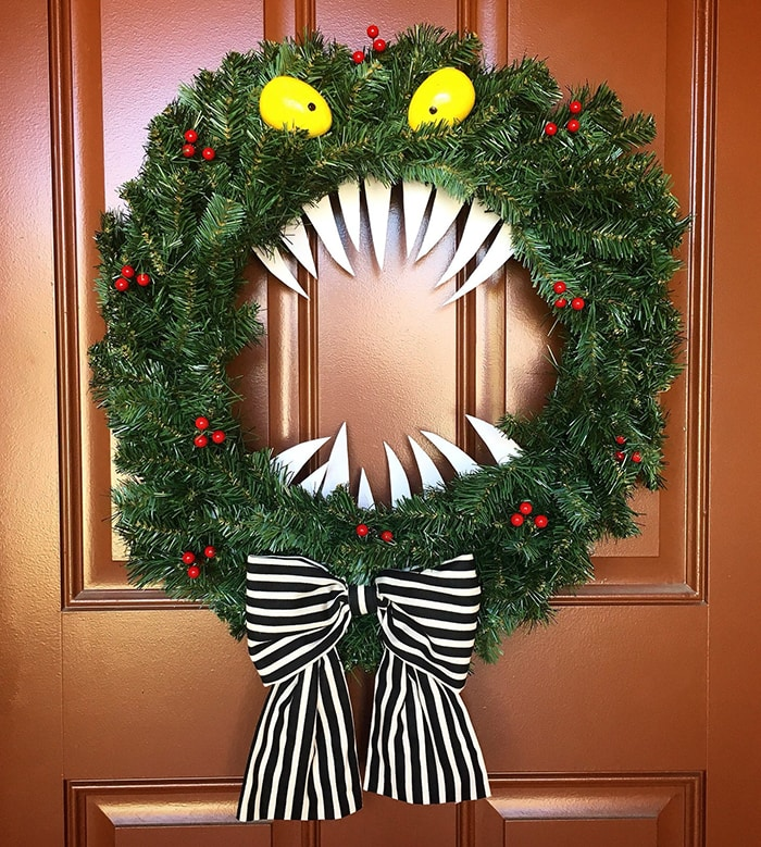 Tacky Christmas Party Ideas - Nightmare Before Christmas Man Eating Wreath
