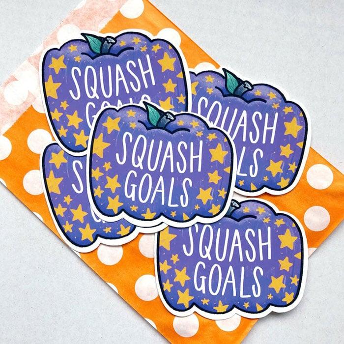 purple squash goals sticker