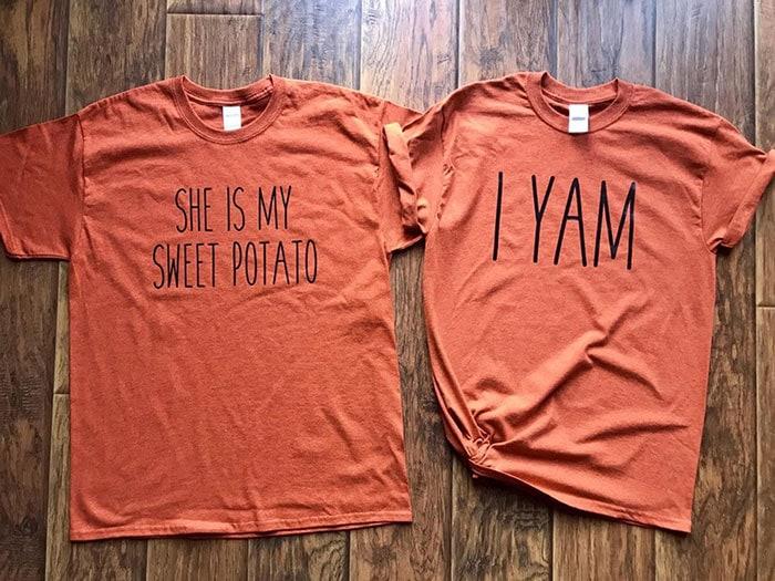 Sweet Potato Yam Couple Shirt