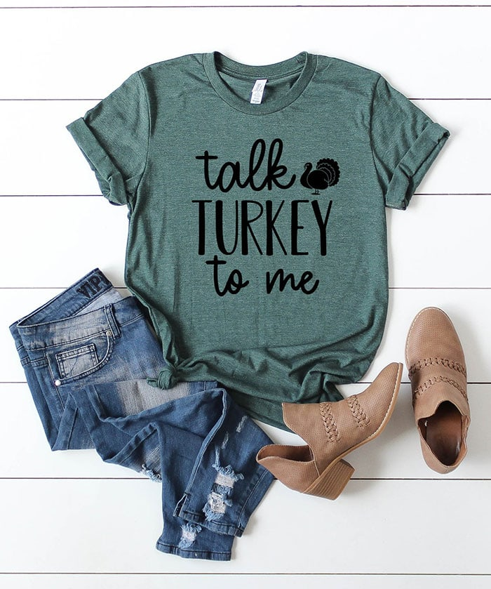 Thanksgiving Puns - talk turkey to me shirt