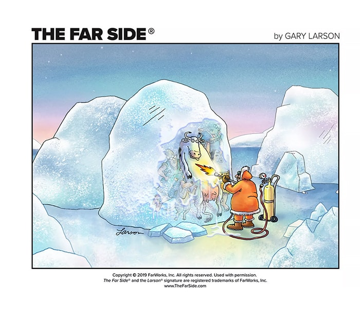 The Far Side Comics Are Back Online - thawing cow