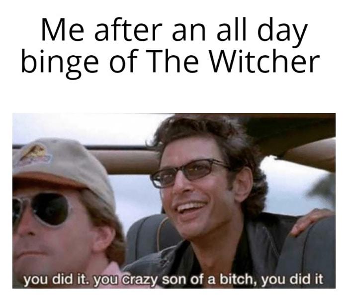 Witcher Memes - Jeff Goldblum