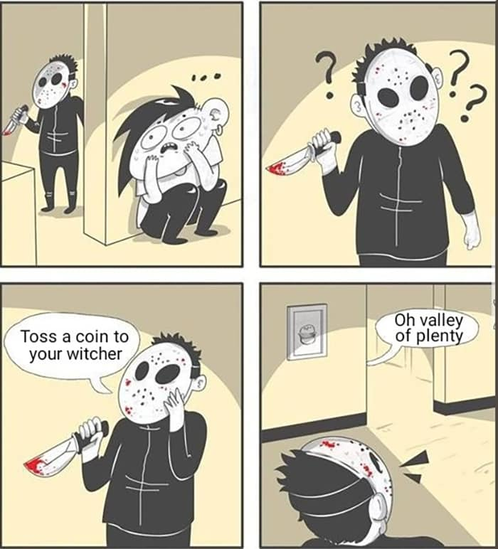 Witcher Memes - Toss a coin in the fountain