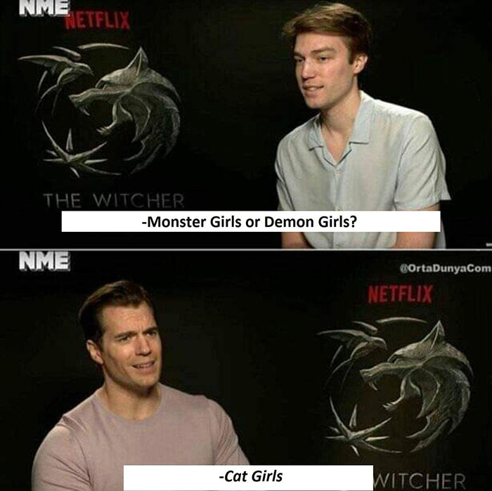 Witcher Memes - Henry Cavill interview