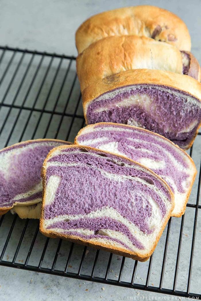 Ube Desserts - Milk Bread