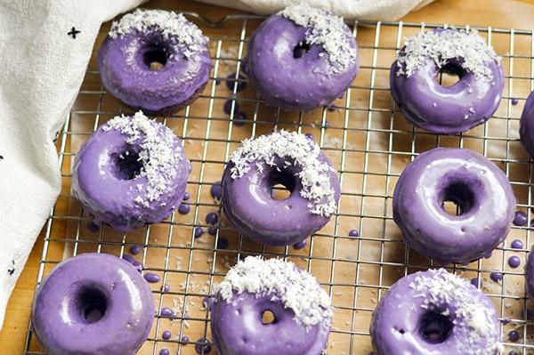 Ube Desserts - Ube Donuts