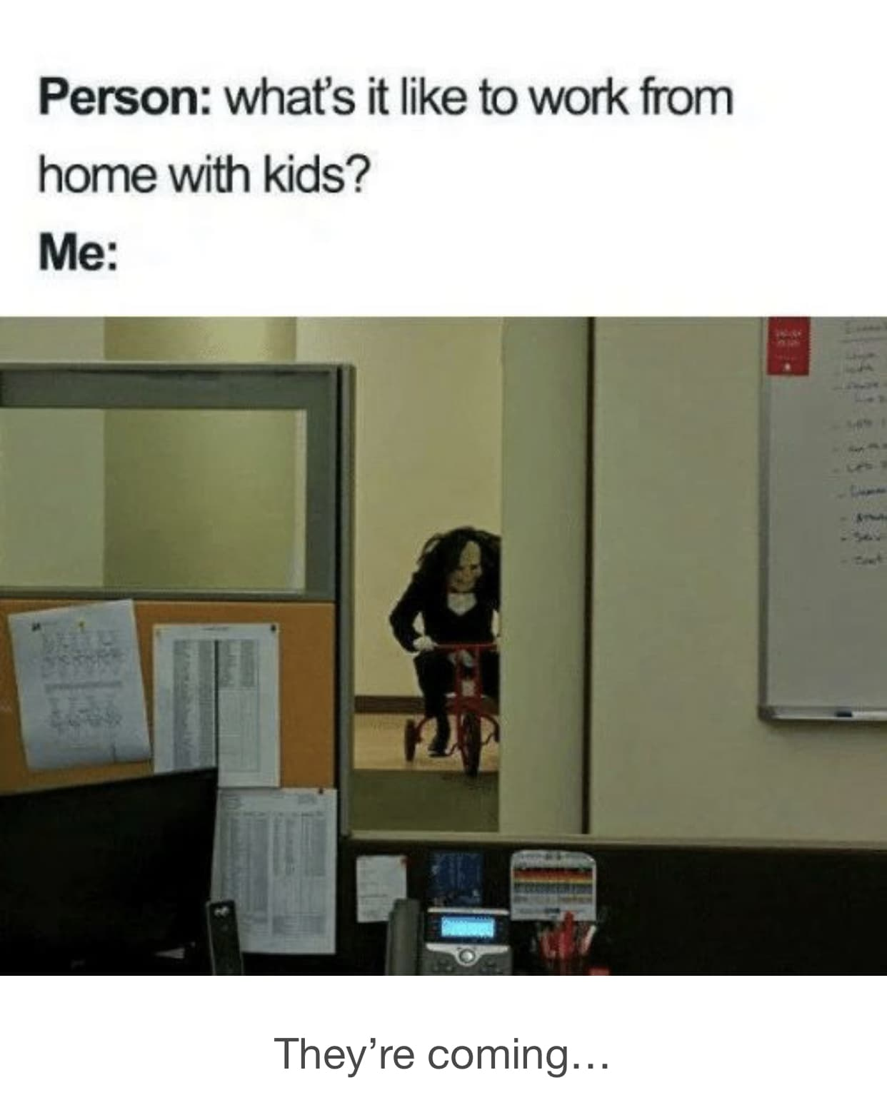 working from home memes - kids 2