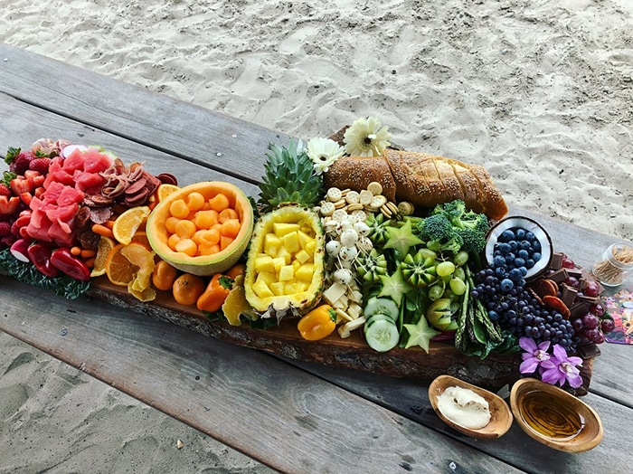 dessert charcuterie board - healthy rainbow fruits