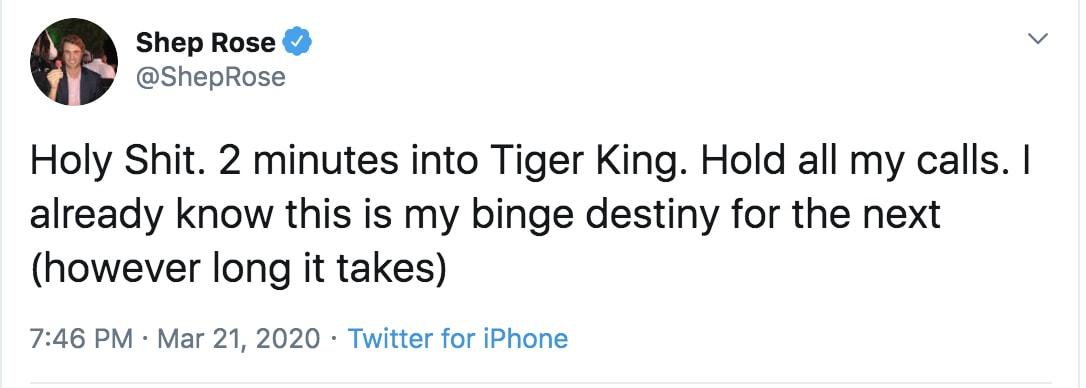 tiger king memes binge watch destiny