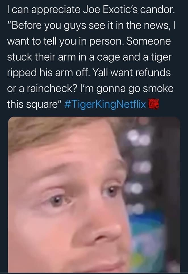 tiger king memes honesty