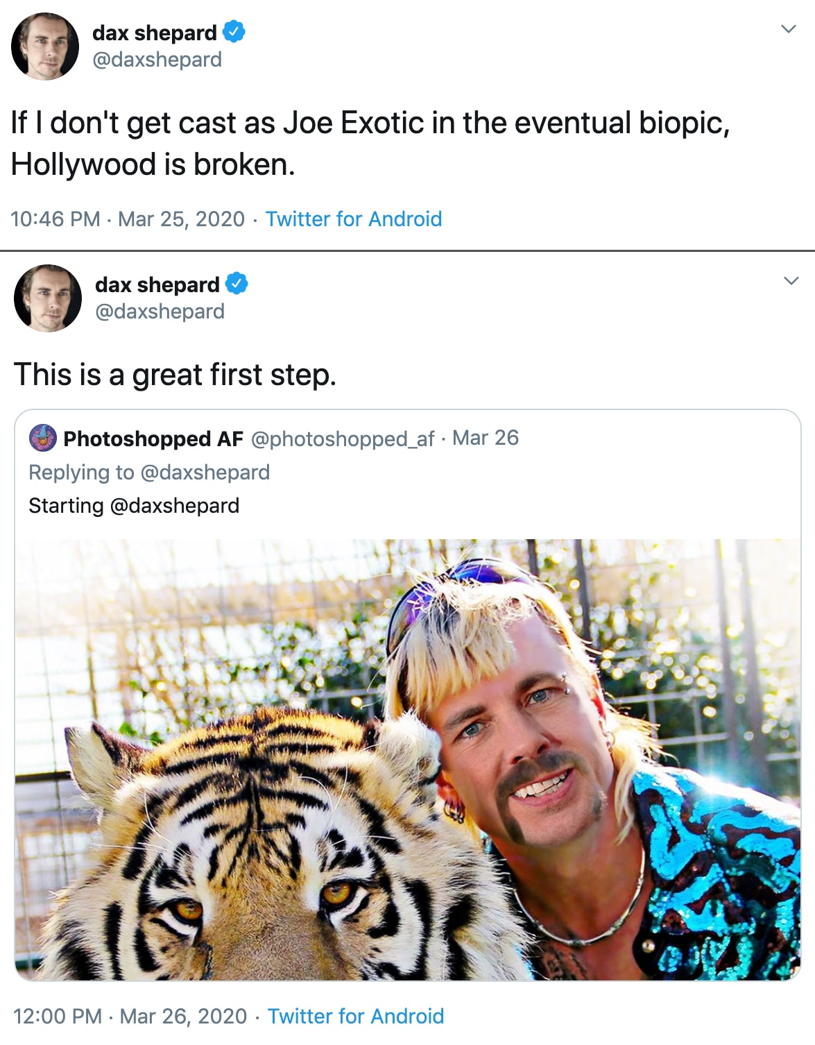 tiger king memes dax