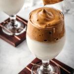 Dalgona Coffee in a glass