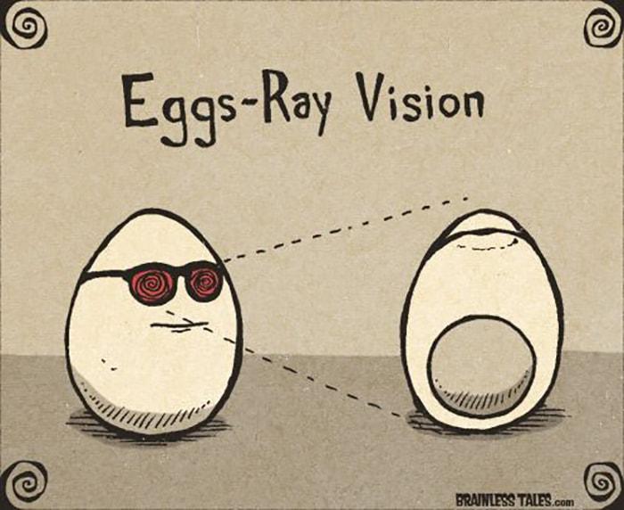 Eggs Ray Vision