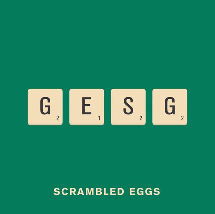Scrambled Eggs Visual Pun