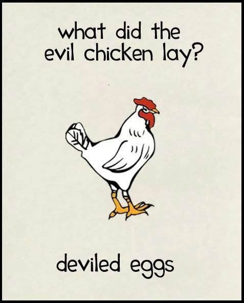 Egg Puns - Deviled Eggs