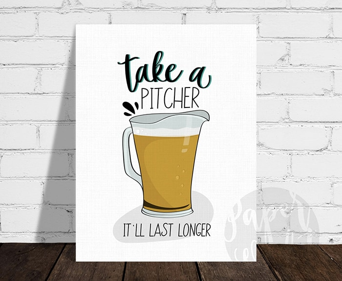 Beer Puns - Take a Pitcher