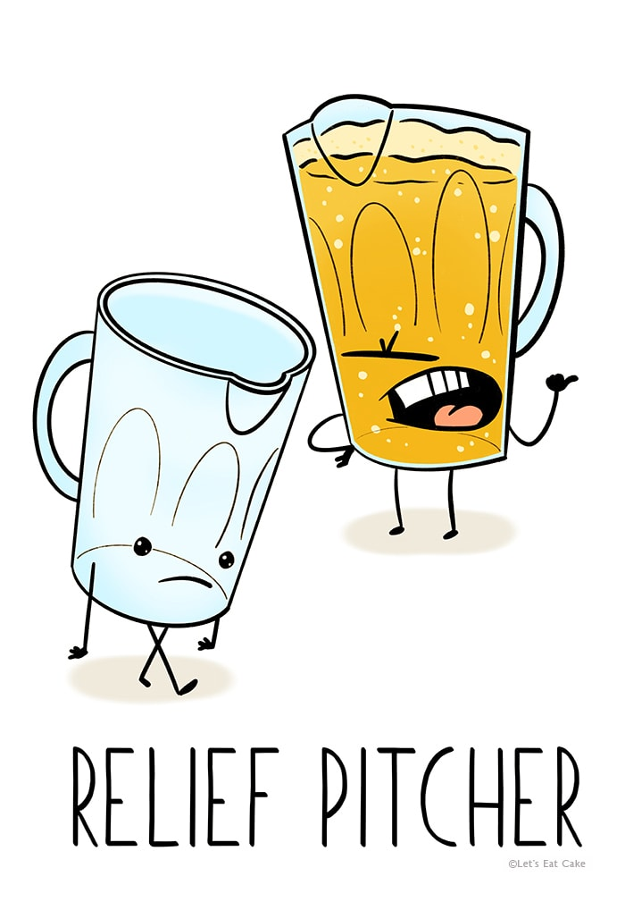 Beer Puns - Relief Pitcher