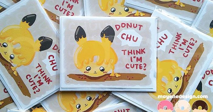 Donut Puns - Pikachu