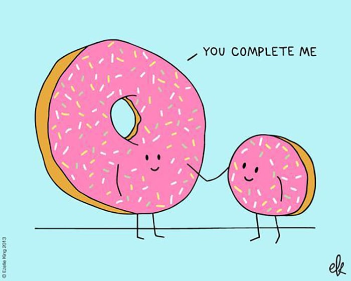Donut Puns - You Complete Me