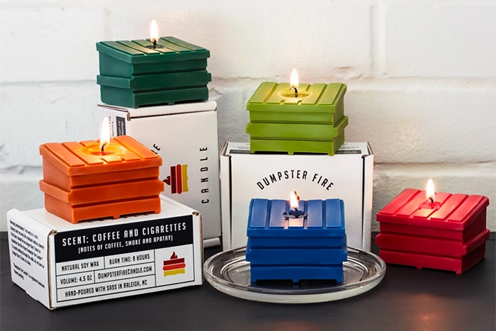 Dumpster Fire Candles