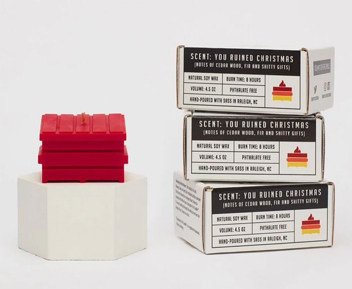 Dumpster Fire Candles - red you ruined christmas
