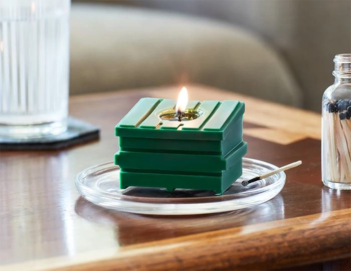 Dumpster Fire Candles - green puff puff pass