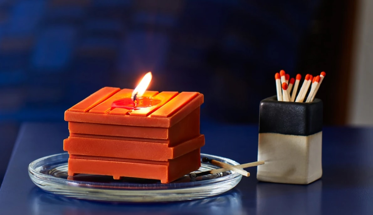 Dumpster Fire Candles - orange Coffee and Cigarettes