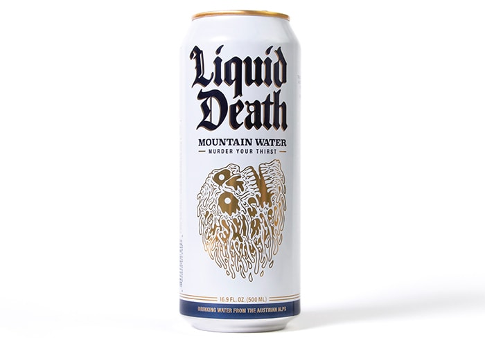 Liquid Death Water Can
