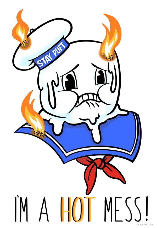Smores Puns - Melting Stay Puft Marshmallow Man