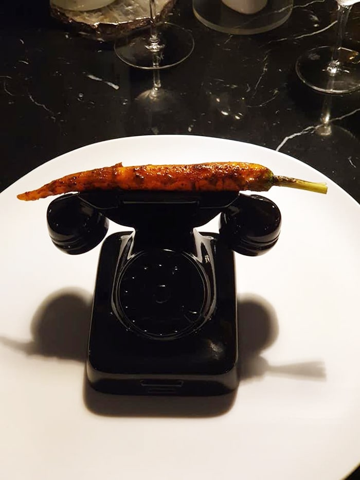 We Want Plates - carrot on telephone