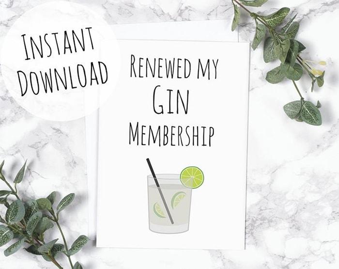 Alcohol Puns - gin membership