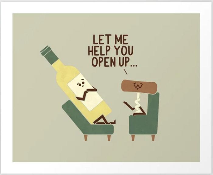 Alcohol Puns - wine opener