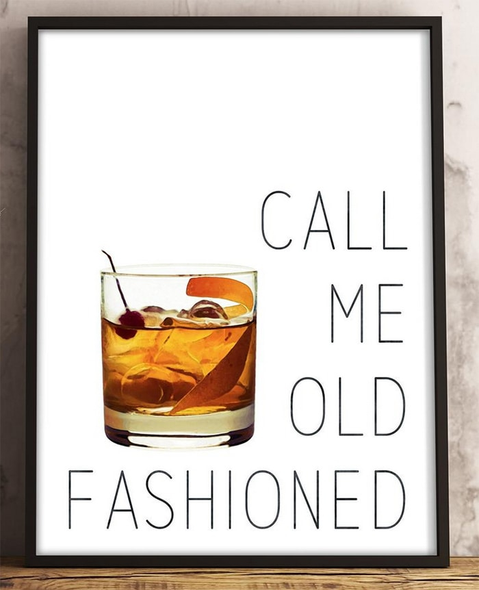 Alcohol Puns - old fashioned