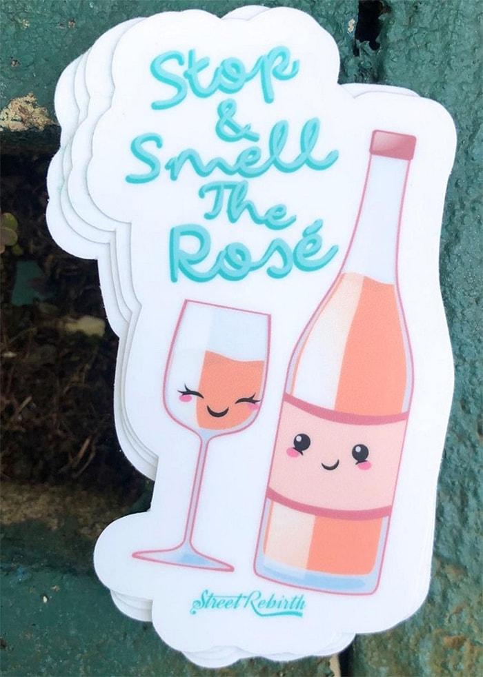 Alcohol Puns - rose