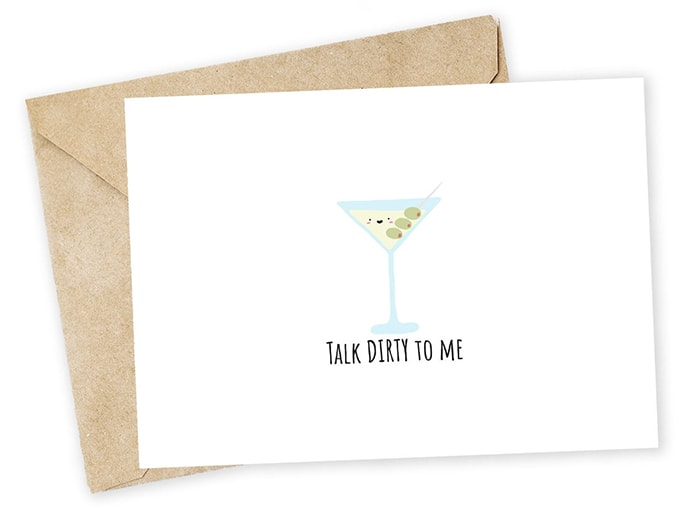 Alcohol Puns - Talk Dirty to Me Martini