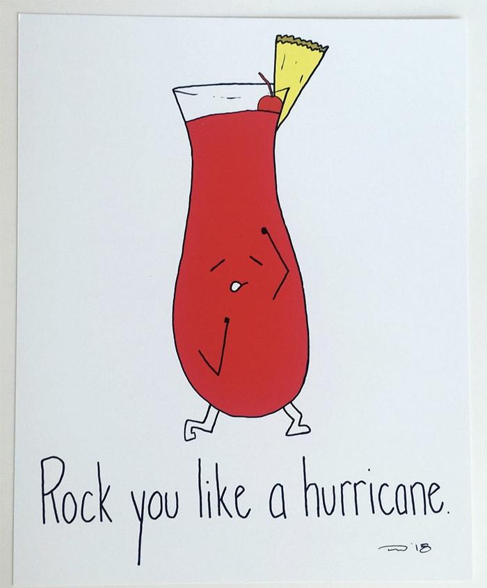 Alcohol Puns - Hurricane