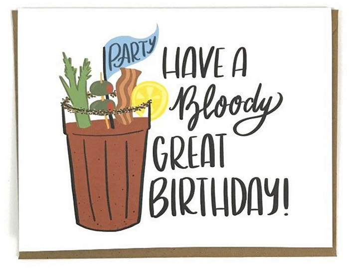 Alcohol Puns - Bloody Mary Birthday